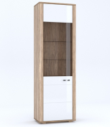 DAVIN Oak canyon / white gloss showcase 1w lewa