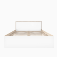 RINO Oak sonoma / White lacquer gloss bed 160