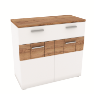 CANDY craft oak dark / white chest of drawers 2d1s