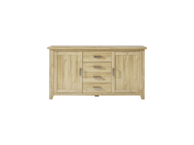 CANYON dąb craft złoty chest of drawers 2d4s