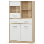 TIPS Oak sonoma / white showcase 2d1w1s/80