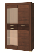 WIENA walnut low showcase 2d2w
