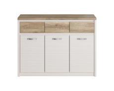 PROVENCE krem / dąb canyon chest of drawers 3d3s